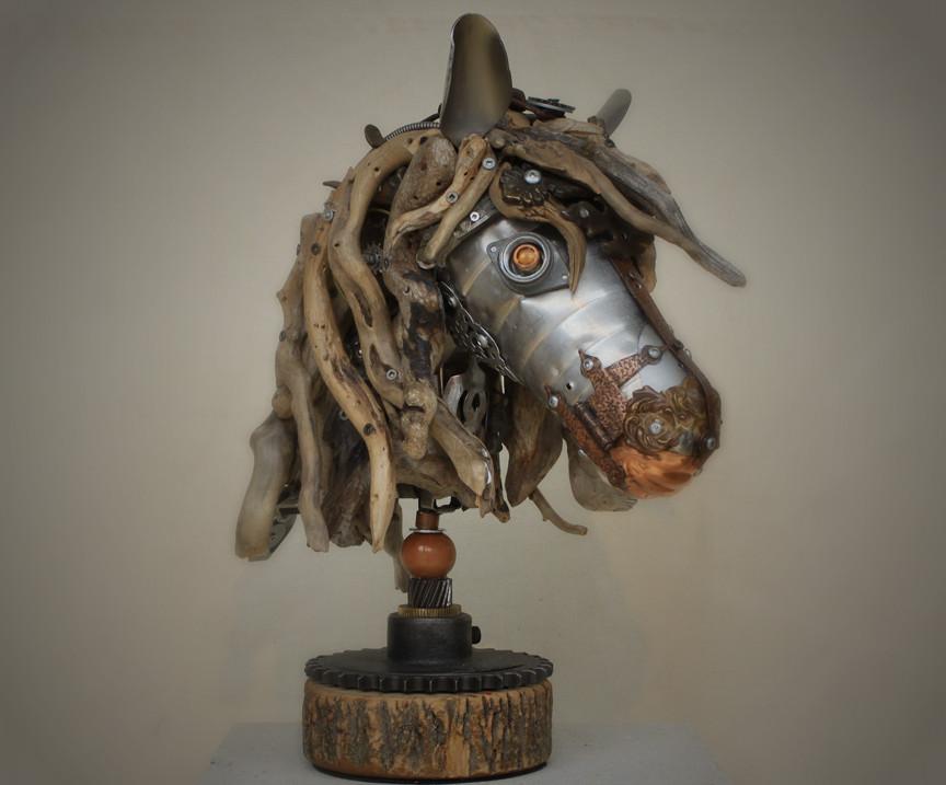 Скульптуры из металлического лома Натали Трепаньер (11)