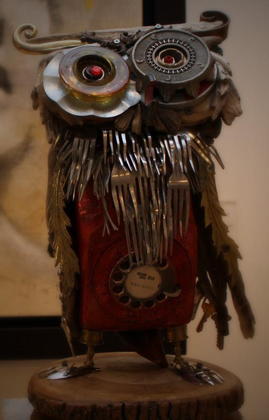 Скульптуры из металлического лома Натали Трепаньер (9)