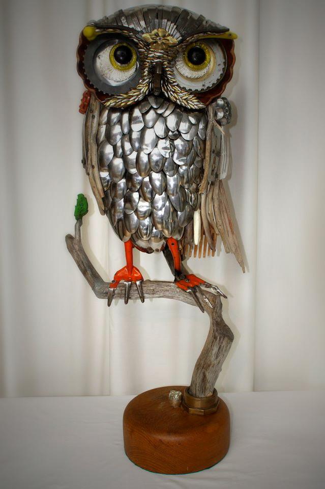 Скульптуры из металлического лома Натали Трепаньер (7)