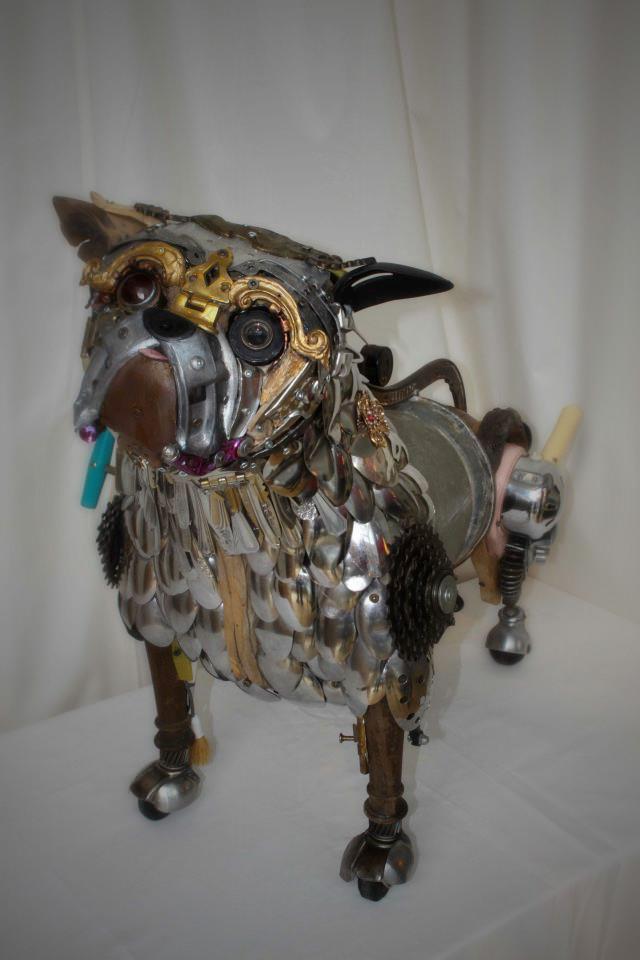 Скульптуры из металлического лома Натали Трепаньер (6)