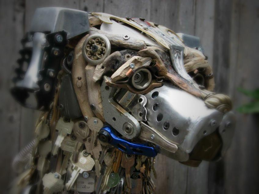 Скульптуры из металлического лома Натали Трепаньер (5)