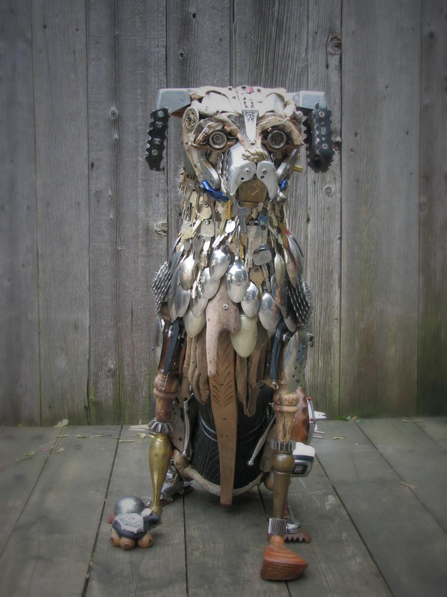 Скульптуры из металлического лома Натали Трепаньер (3)