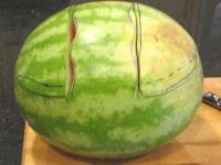 Как сделать арбузную корзинку для фруктов
