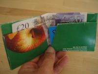 Как сделать бумажный бумажник