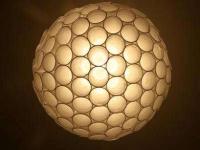 Как сделать сферическую лампу-люстру из стаканчиков