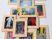 Как сделать фотоколлаж в рамках на стену