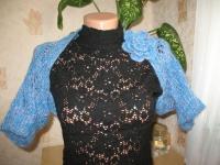 Голубое болеро с цветком