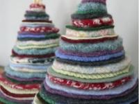 Как сделать текстильную новогоднюю елку