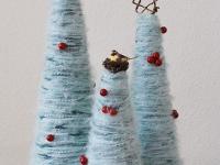 Как сделать новогоднюю елку из пряжи
