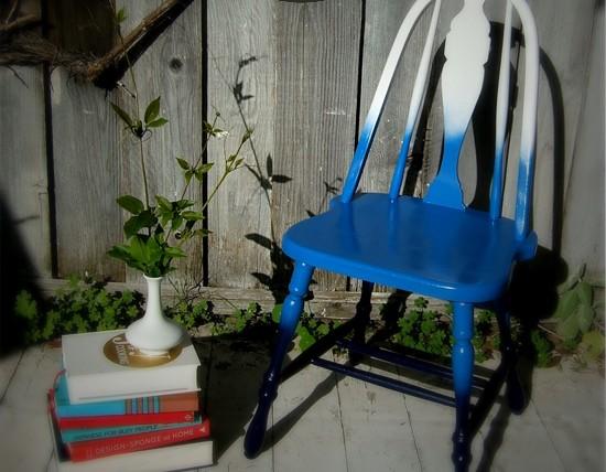 Преображение старого стула с помощью градиентной покраски (1)