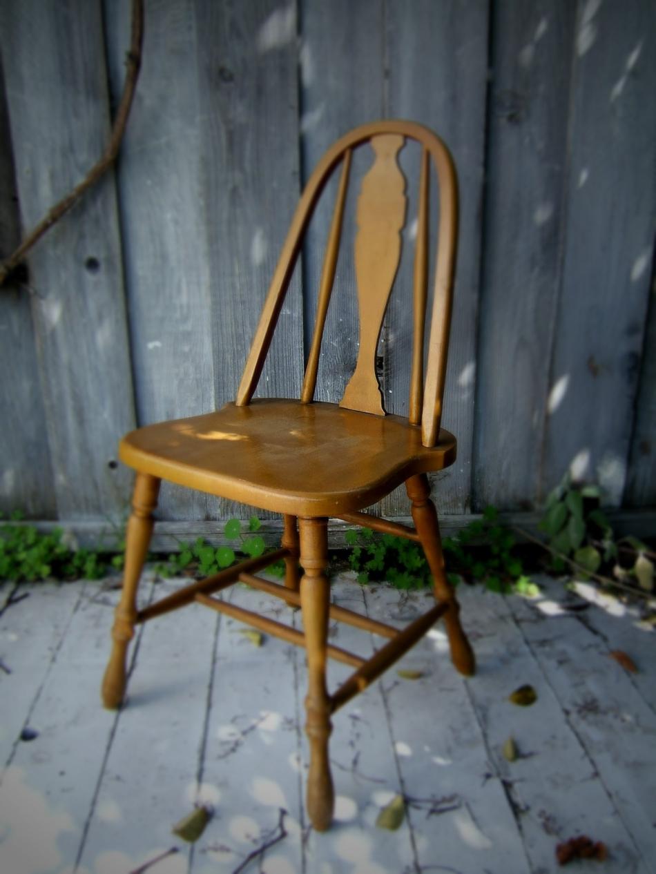 Преображение старого стула с помощью градиентной покраски (18)