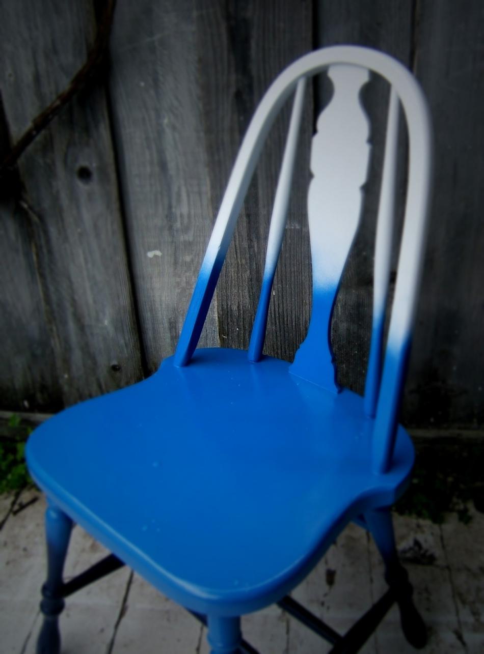 Преображение старого стула с помощью градиентной покраски (9)