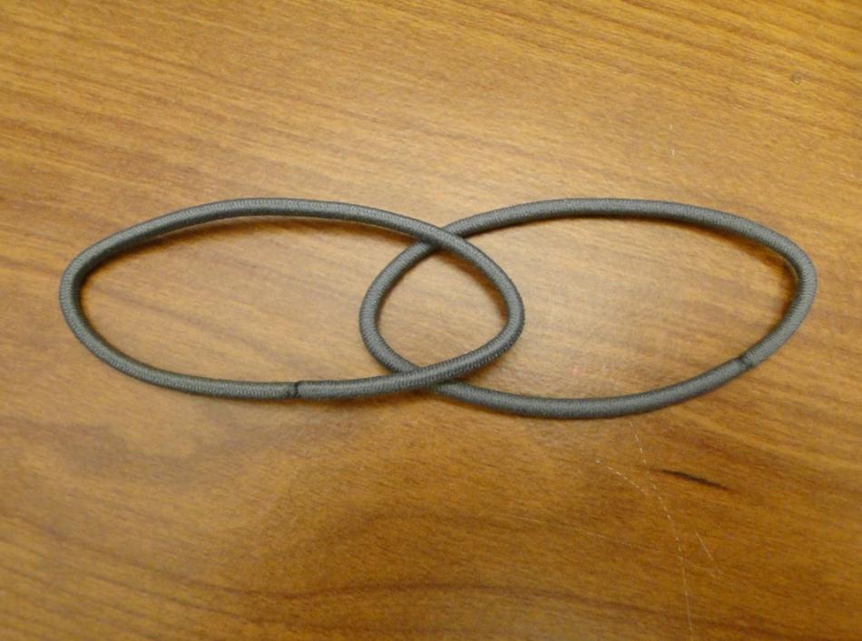 Повязка для волос из атласных лент (7) .