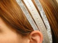 Повязка для волос из атласных лент (1)