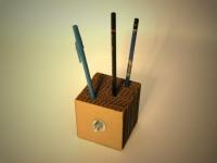 Картонный куб-органайзер для карандашей и шариковых ручек (1)
