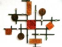 Настенное украшение из жести и дерева (13)
