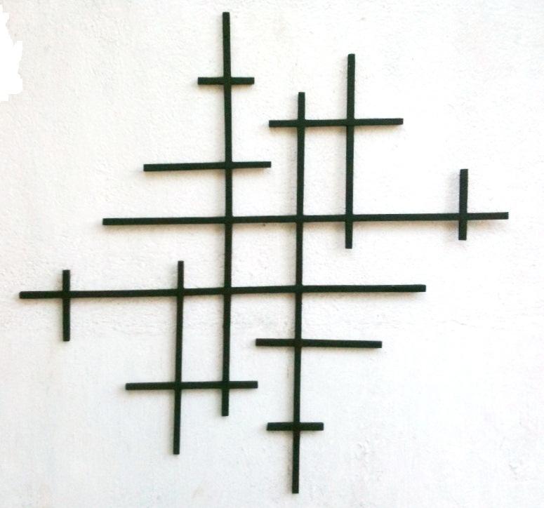 Настенное украшение из жести и дерева (8)