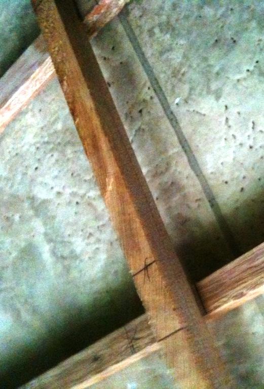 Настенное украшение из жести и дерева (6)