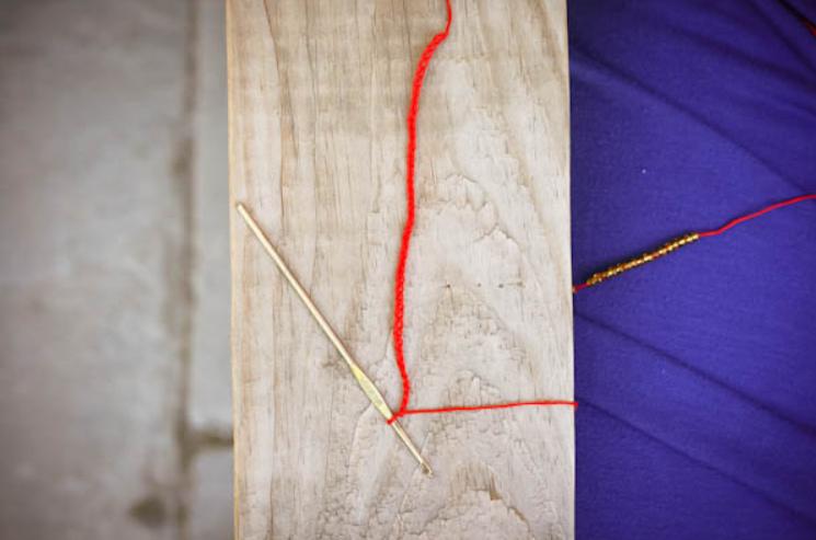 Летний вязаный браслет (8)