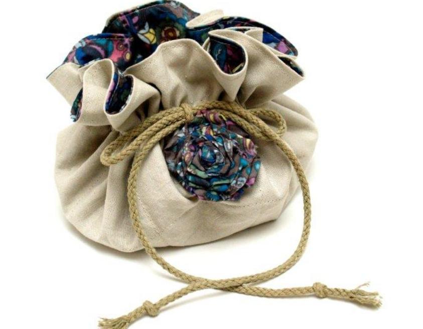 Как сшить сумку-мешочек для мелочей (1)
