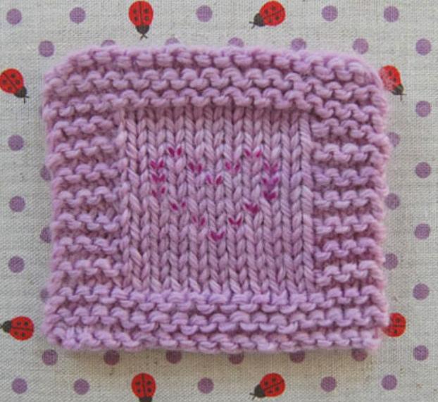 Как сделать вышивку на вязаном изделии (8)