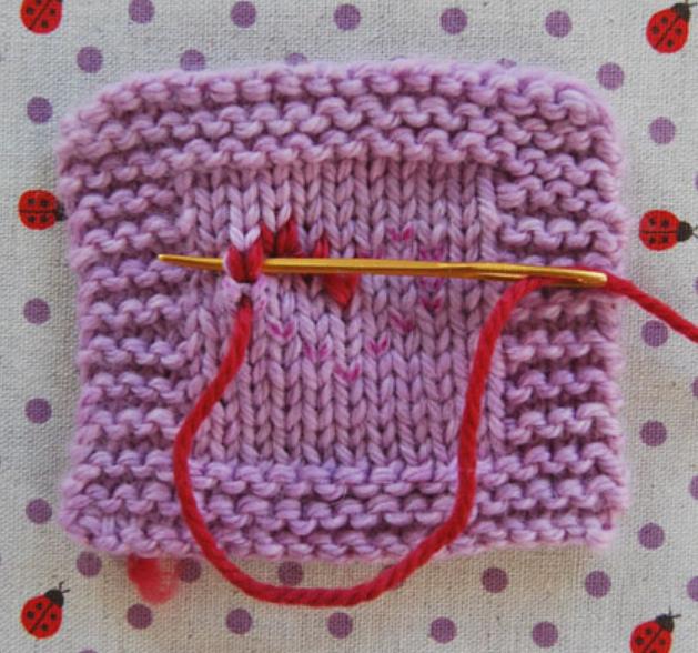 Вышивка бисером по вязаному полотну - Вязание крючком 17