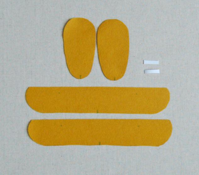 Как сшить детские домашние тапочки из войлока (13)