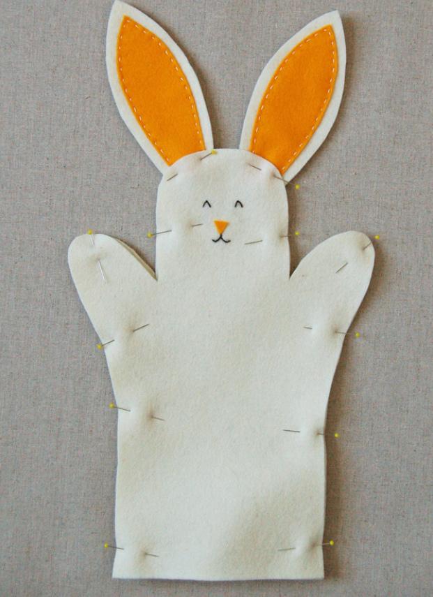 Как сшить зайчика для домашнего кукольного театра (3)