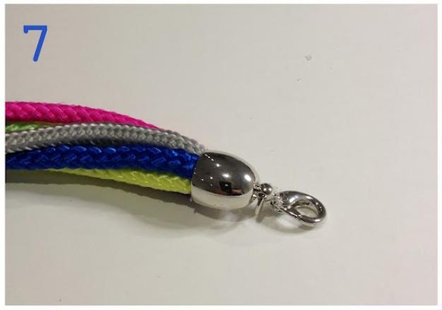 Как сделать браслет из веревок (3)