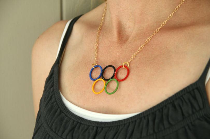 Как сделать кольца Олимпиады (13)