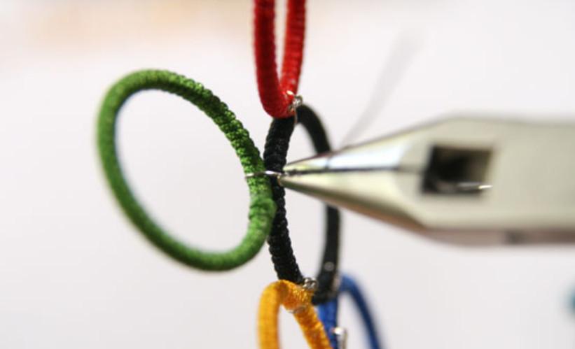 Как сделать кольца Олимпиады (6)