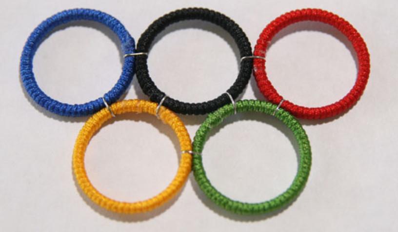 Как сделать кольца Олимпиады (4)