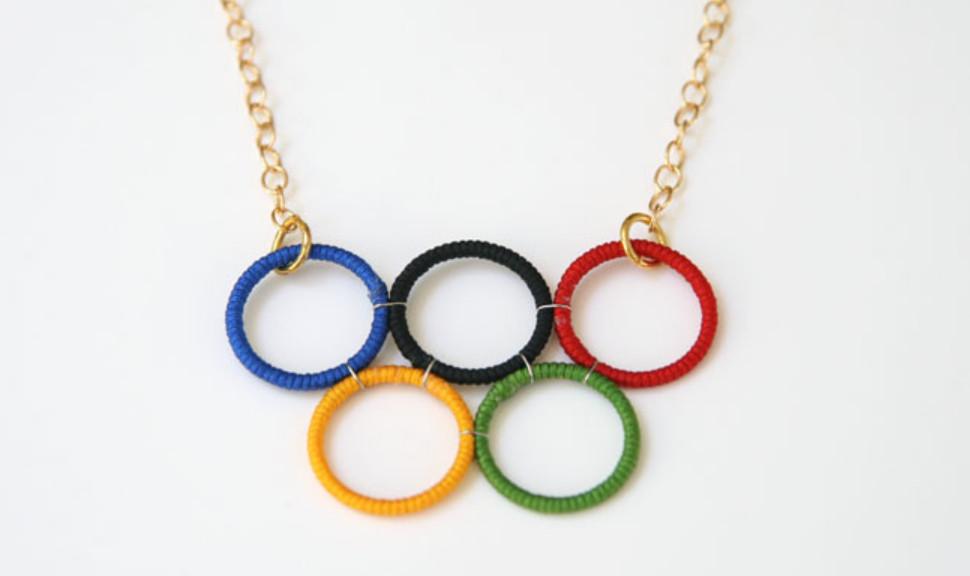 Как сделать кольца Олимпиады (2)