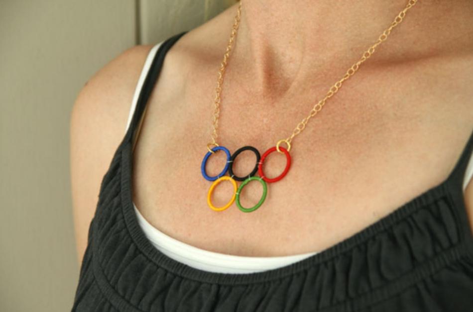 Как сделать кольца Олимпиады (1)