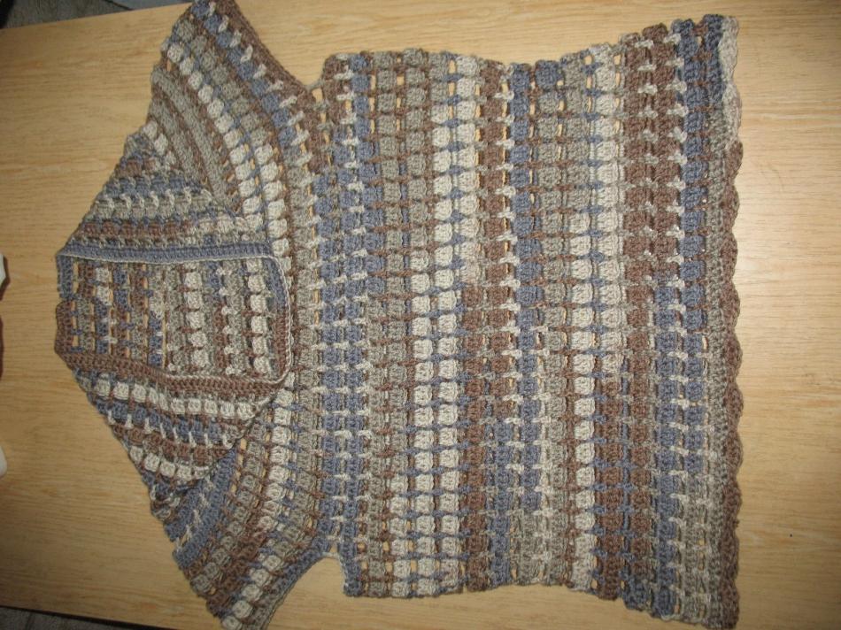 Пуловер с коротким рукавом для прохладных летних вечеров (12)