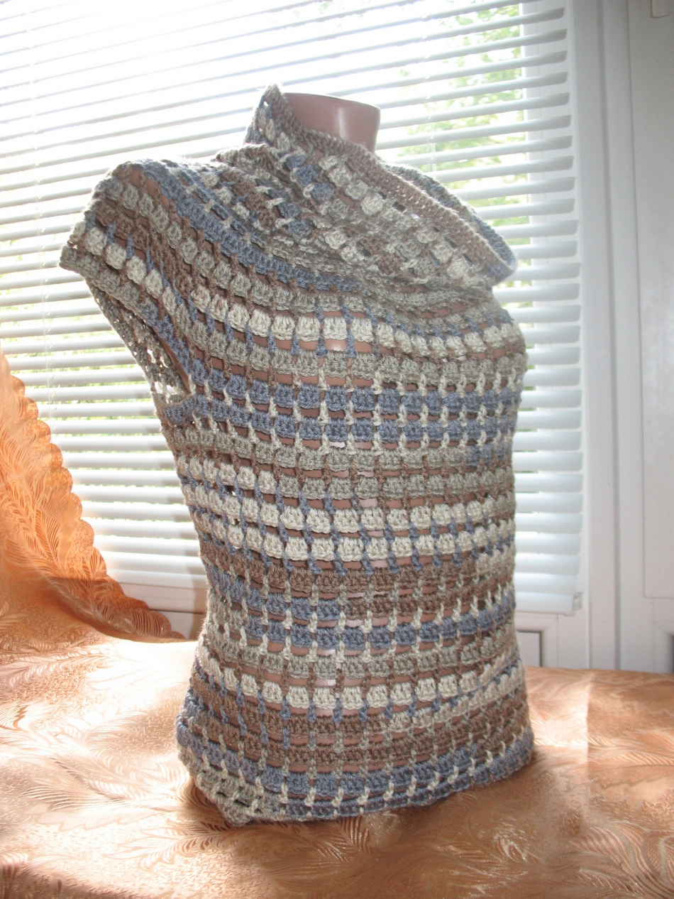 Пуловер с коротким рукавом для прохладных летних вечеров (5)