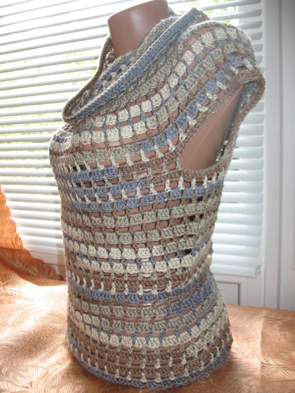 Пуловер с коротким рукавом для прохладных летних вечеров (4)