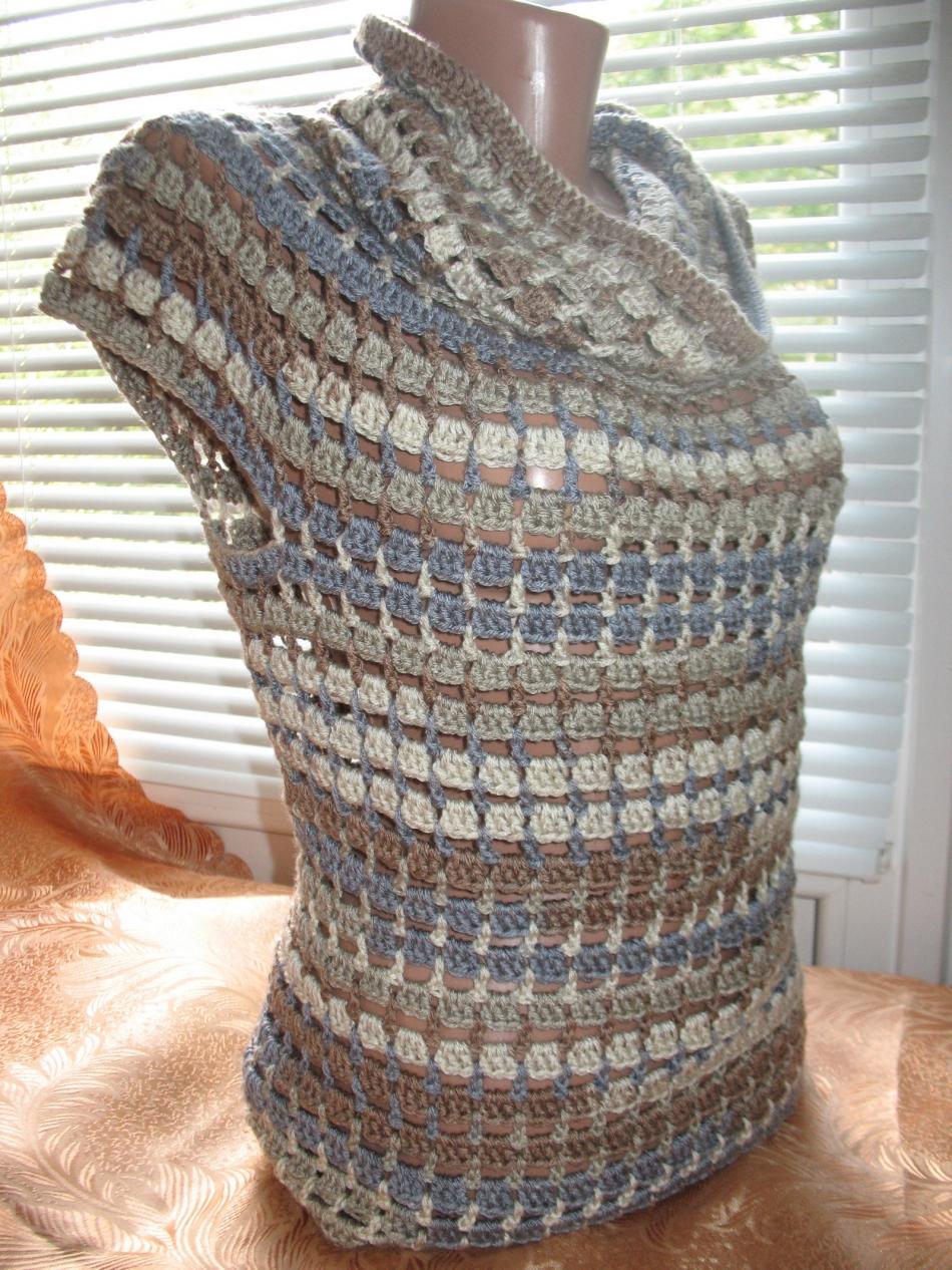 Пуловер с коротким рукавом для прохладных летних вечеров (3)