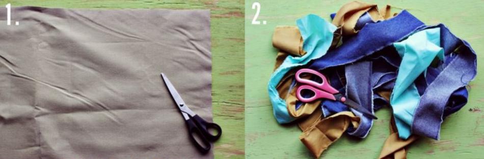 Как сделать коврик из футболок (6)