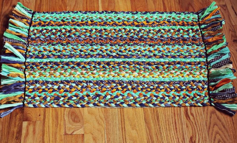 Плетение ковер своими руками