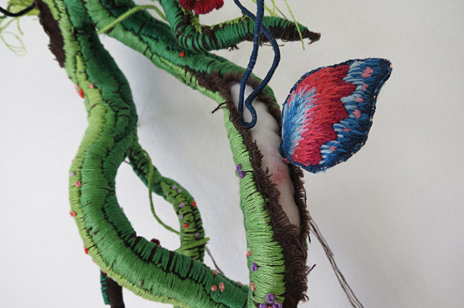 Инсталляции из ниток от Вероники Фуэнтес (2)
