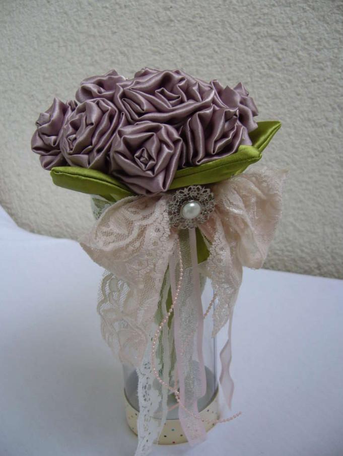Как сделать своими руками свадебный букет-дублер (2)