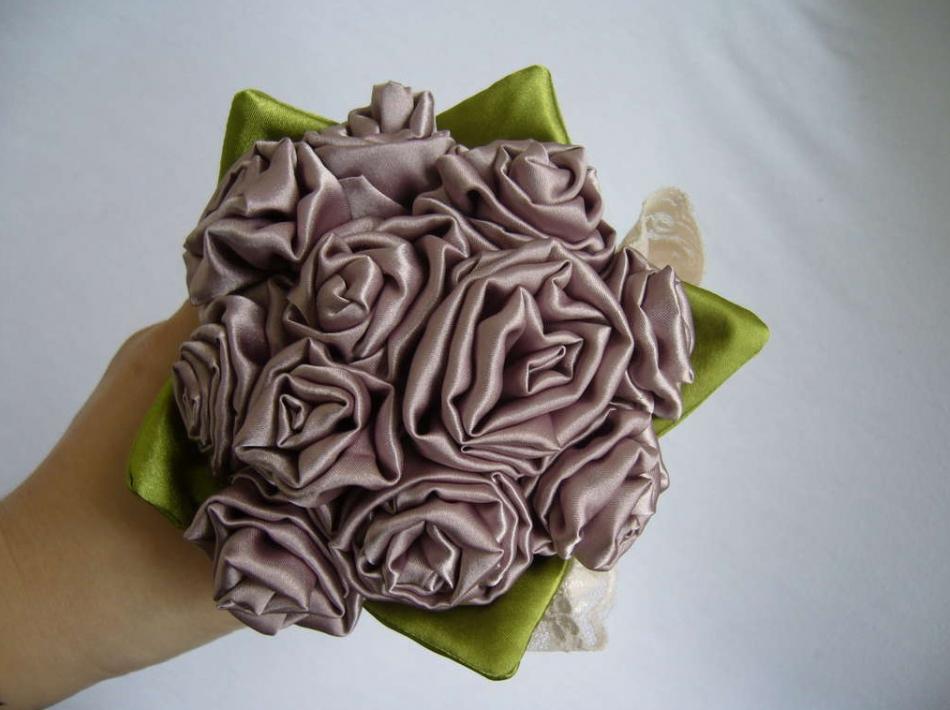 Как сделать своими руками свадебный букет-дублер (1)