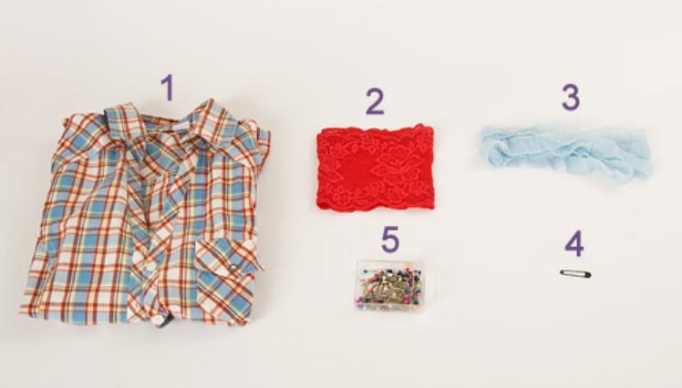 Украшение рубашки кружевом (10)