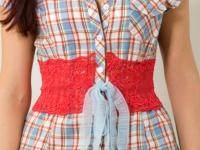 Украшение рубашки кружевом (9)