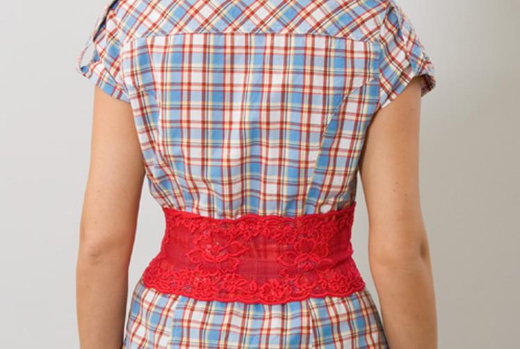 Украшение рубашки кружевом (6)