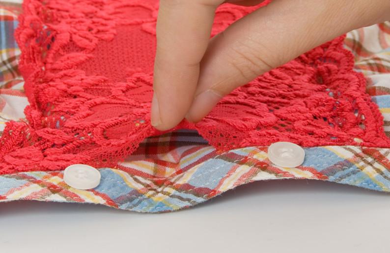 Украшение рубашки кружевом (4)