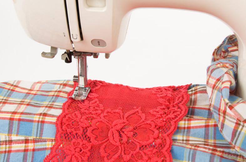 Украшение рубашки кружевом (3)