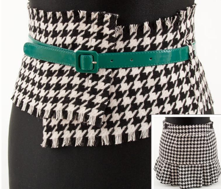 Как сделать широкий пояс из строй юбки (9)