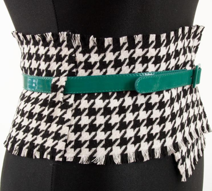 Как сделать широкий пояс из строй юбки (6)